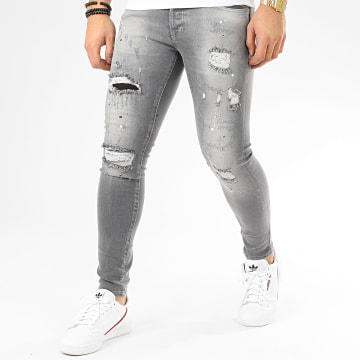 GRJ Denim - Jean Slim 14173 Gris