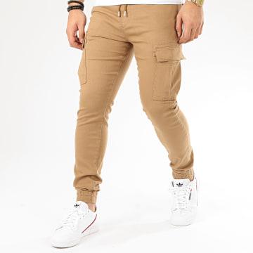 Pantalon Cargo 14177 Camel