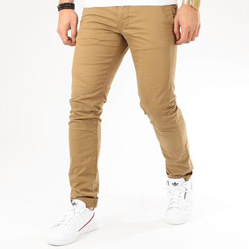 Teddy Smith - Pantalon Chino Slim Stretch Marron