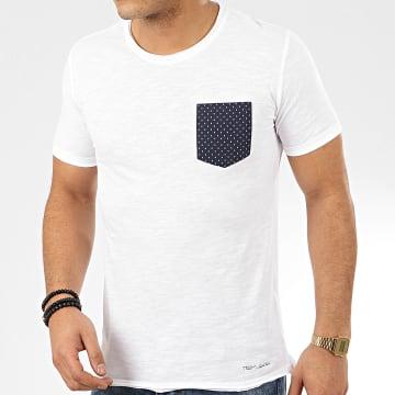 Tee Shirt Poche Turos Blanc Chiné