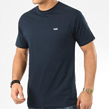 Tee Shirt Left Chest Logo Bleu Marine