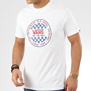 Vans - Tee Shirt OG Checker Blanc