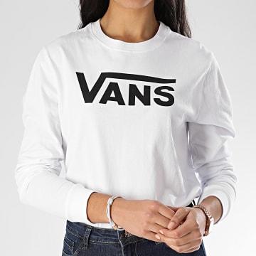 Tee Shirt Manches Longues Femme Flying V Classic A47WN Blanc