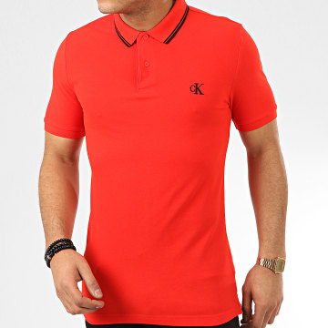 Polo Manches Courtes Essential Tipping 4565 Rouge
