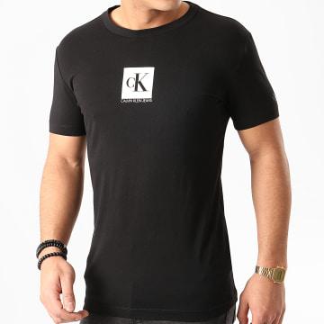 Calvin Klein - Tee Shirt Center Monogram Box 4755 Noir
