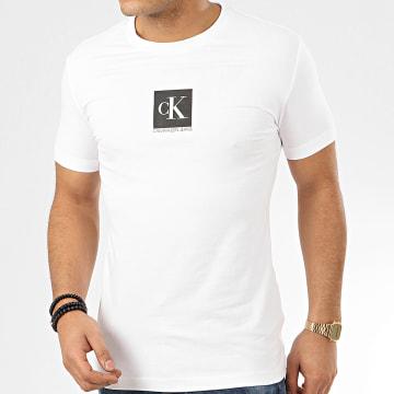 Calvin Klein - Tee Shirt Center Monogram Box 4755 Blanc