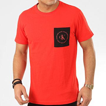 Calvin Klein - Tee Shirt Poche CK Round Logo 4761 Rouge