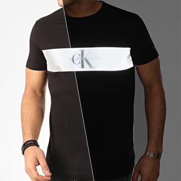 Calvin Klein - Tee Shirt Réfléchissant Reflect Stripe Monogram 4797 Noir