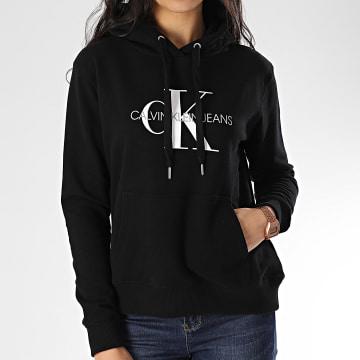 Calvin Klein - Sweat Capuche Femme Monogram Relax 3468 Noir