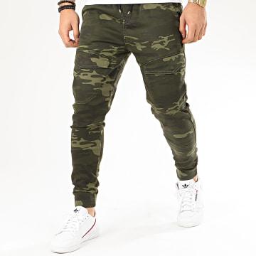 Jogger Pant Camouflage GF79034 Vert Kaki