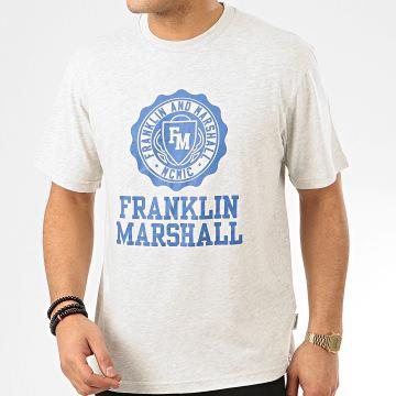 Franklin And Marshall - Tee Shirt JM3008-1000P01 Gris Chiné