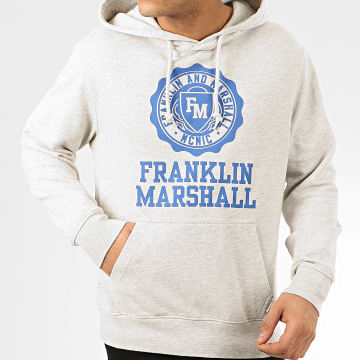 Franklin And Marshall - Sweat Capuche JM5001-2000P01 Gris Chiné