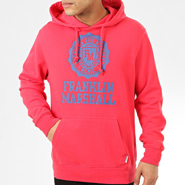 Franklin And Marshall - Sweat Capuche JM5001-2000P01 Rouge