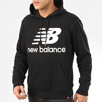 New Balance - Sweat Capuche Essential Stacked Logo MT91547 Noir