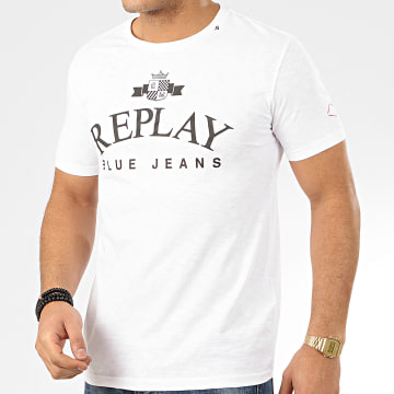 Replay - Tee Shirt M3033 Blanc Chiné