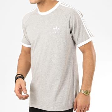 adidas - Tee Shirt A Bandes 3 Stripes FM3769 Gris Chiné