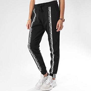 Pantalon Jogging Femme A Bandes Cuff FM4385 Noir