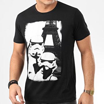 Star Wars - Tee Shirt Trooper Selfie Eiffel Tower Noir