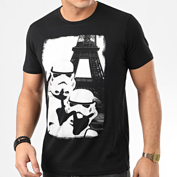 Tee Shirt Trooper Selfie Eiffel Tower Noir