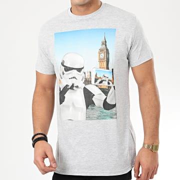 Tee Shirt Trooper Selfie London Gris Chiné