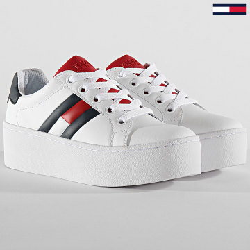 Tommy Jeans - Baskets Femme Icon 0876 Red White Black