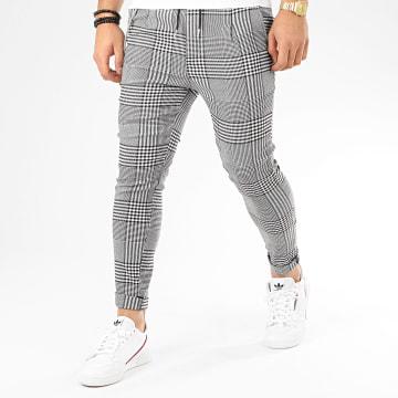 Pantalon A Carreaux T3516 Gris