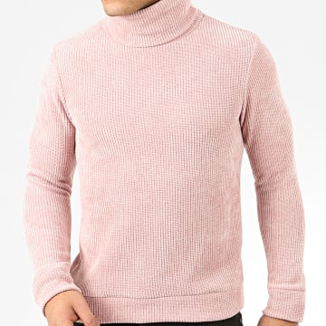 Uniplay - Pull Col Roulé T671 Rose