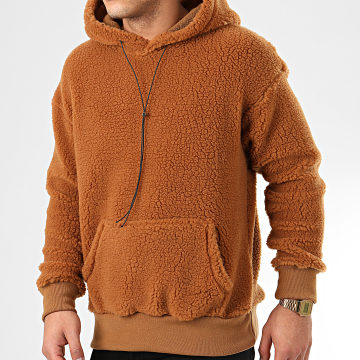 Sweat Capuche Fourrure UY475 Marron