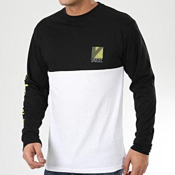 Tee Shirt Manches Longues Retro Sport A49QHYB2 Noir Blanc