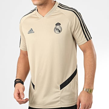 Maillot De Foot A Bandes Real Madrid FC EI7472 Beige