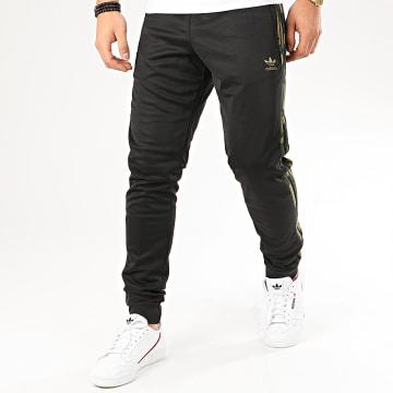 Pantalon Jogging A Bandes Camo FM3360 Noir