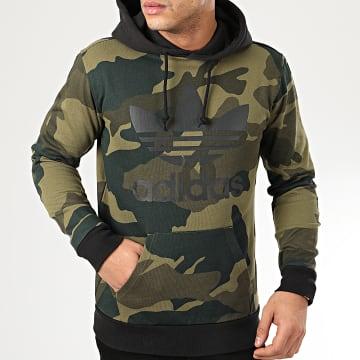Sweat Capuche Camo OTH FM3395 Vert Kaki Camouflage