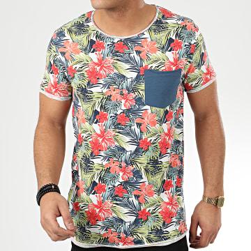 Tee Shirt Poche H12021Z21211A Blanc Floral