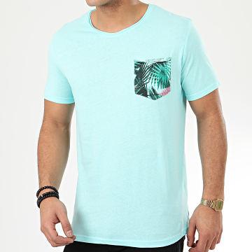 Tee Shirt Poche H1515Z21058A Bleu Clair