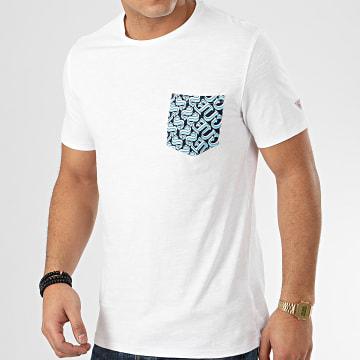 Guess - Tee Shirt Poche M0GI68 Blanc