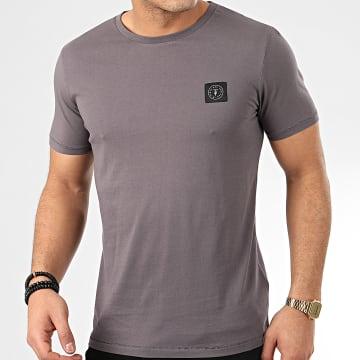 Tee Shirt Brown Gris Anthracite
