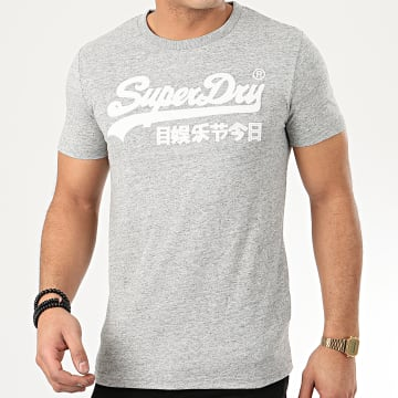 Tee Shirt VL Embroidered M1010114A Gris Chiné