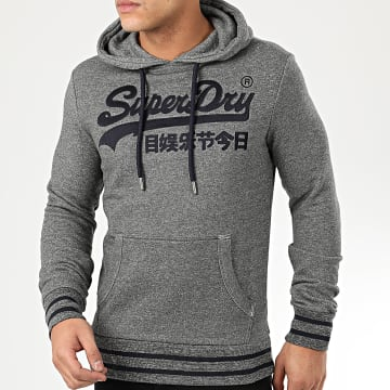 Superdry - Sweat Capuche VL Embroidered M2010111A Gris Chiné