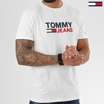 Tommy Jeans - Tee Shirt Corp Logo 7843 Blanc