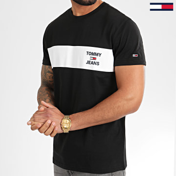 Tee Shirt Chest Stripe Logo 7858 Noir