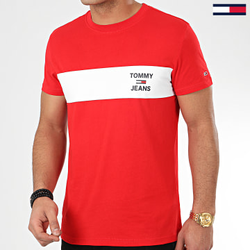Tee Shirt Chest Stripe Logo 7858 Rouge