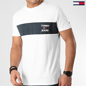 Tee Shirt Chest Stripe Logo 7858 Blanc Cassé