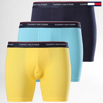 Lot De 3 Boxers Premium Essentials 0010 Bleu Jaune