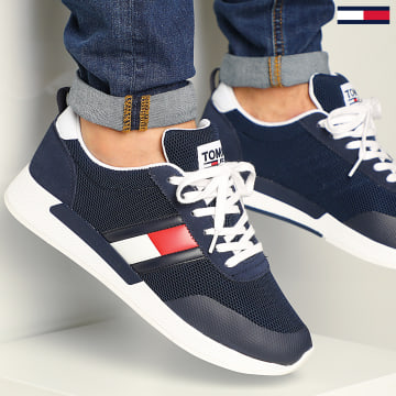 Baskets Flexi Tommy Jeans Flag Sneaker 0400 Twilight NAvy