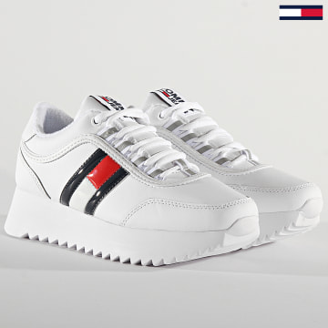 Tommy Jeans - Baskets Femme High Cleated Flag Sneaker 0784 White