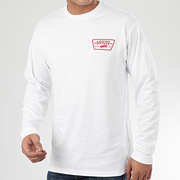 Vans - Tee Shirt Manches Longues Full Patch Back A2XCMKSF1 Blanc