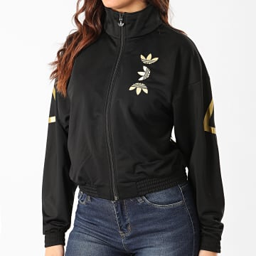 Adidas Originals - Veste Zippée Femme Large Logo FS7220 Noir Doré
