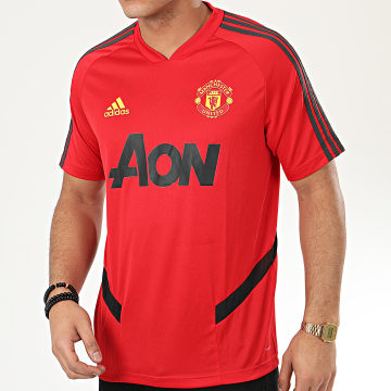 Tee Shirt De Sport Manchester United A Bandes ED6898 Rouge