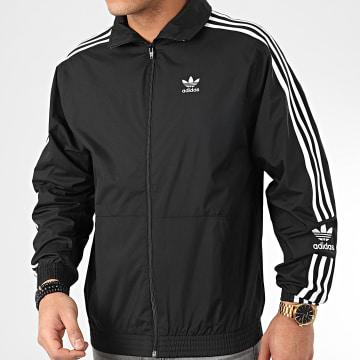 Adidas Originals - Veste Zippée A Bandes Lock Up FM9881 Noir Blanc