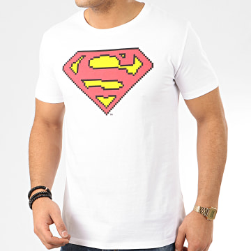 DC Comics - Tee Shirt Low Resolution Blanc
